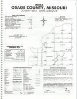 Index Map, Osage County 1984
